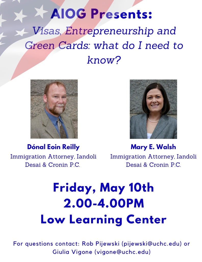 visas, entrepreneurship, and green card information session